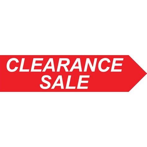clearance sale clearance sale 1ft x 4ft directional arrow signs spinner