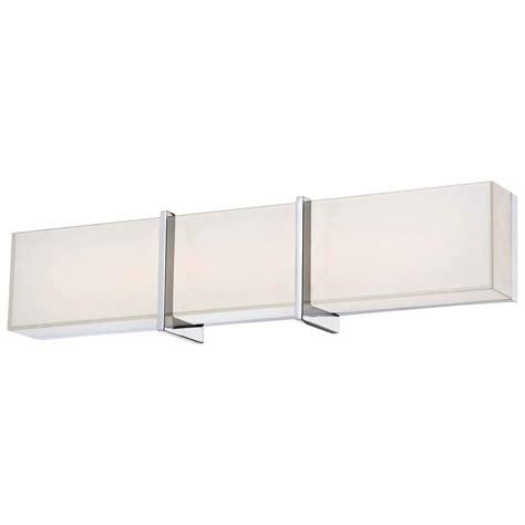 Led Bathroom Vanity Lighting Minka Lavery High Rise Led Bath Chrome Vanity Light 2922 77 L The Home Depot