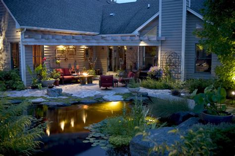 Tropical Outdoor Lighting Pond And Landscape Lighting Tropical Landscape Chicago By Aquascape