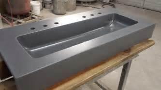 vanities with integral sink concrete vanity