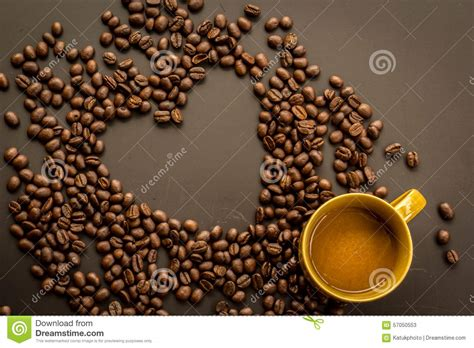 Black Coffee Aromatic One coffee on grunge background stock photo image 57050553