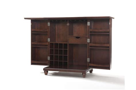Expandable Bar Cabinet Cambridge Expandable Bar Cabinet In Vintage Mahogany Finish By Crosley