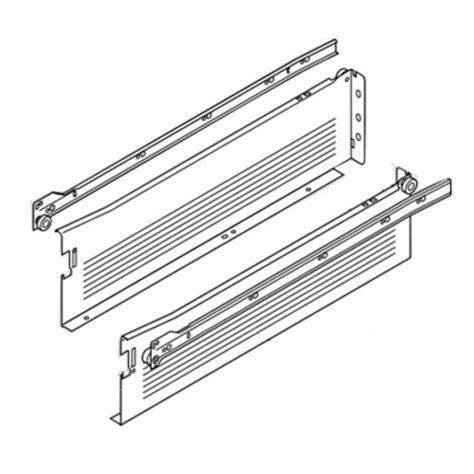 metal drawer slide brackets blum metabox slide 4 5 8h quot x 18 quot l white w front fix