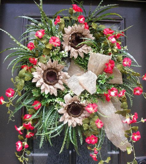 8 Etsy Items For The Summer by Front Door Wreath Summer Summer From Luxewreaths On Etsy In