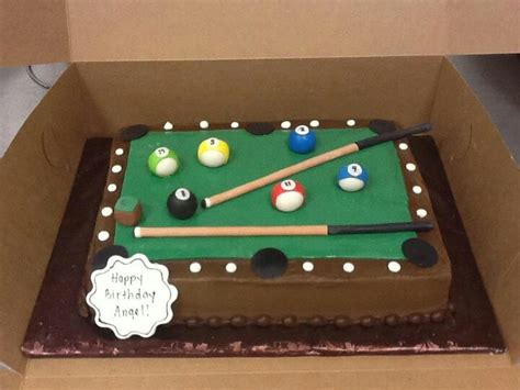 pool table cakes pool table cake fondant cakes 30th