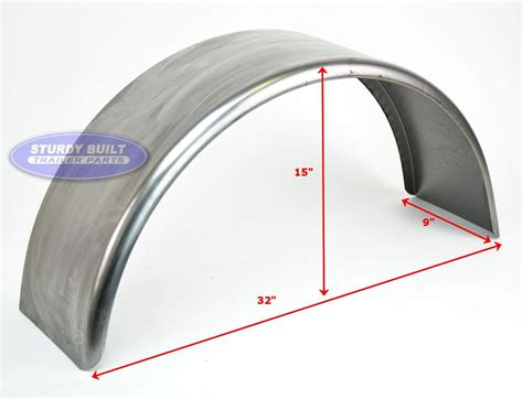 half round boat fenders cold rolled steel trailer fender single axle 9 x 32 x 15in
