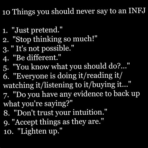 10 Things About Womans You Should by 10 Things You Should Never To Say To An Infj Sensitive