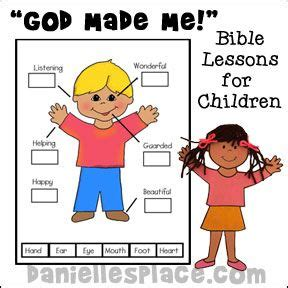 themes in god help the child bible lessons for children quot god made me quot bible lessons