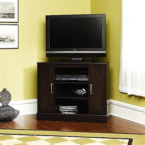 Corner Tv Stands Walmart by Cherry Corner Tv Stand With Storage For Tvs Up To 37