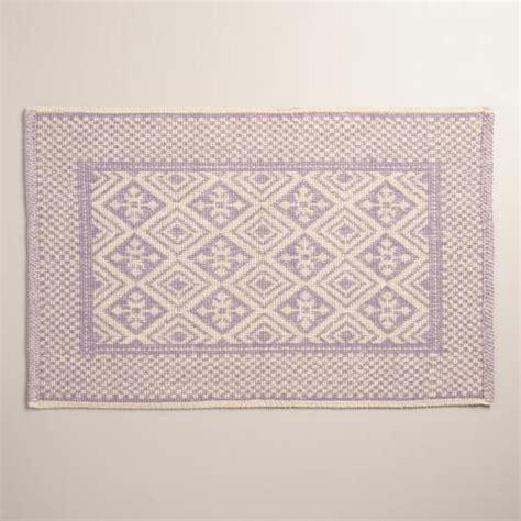 world market bath rugs lavender and ivory jacquard bath mat world market
