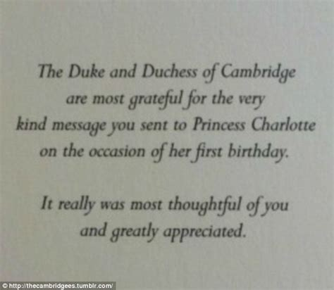 thank you letter to a dedicated kate middleton and prince wiliam send thank you cards from