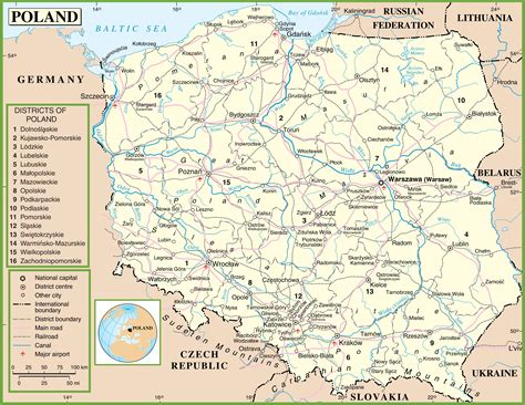 printable map of poland printable maps printable map of poland printable maps