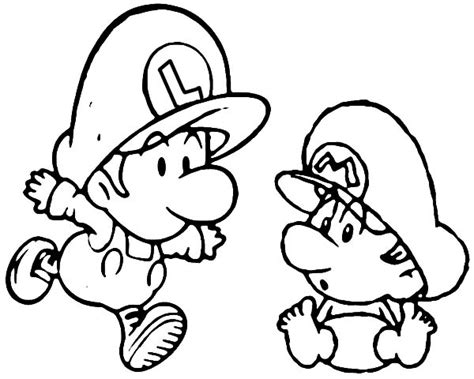 baby luigi coloring page baby mario colouring pages free coloring pages on art
