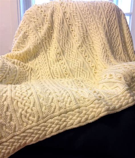 aran cable knitting patterns free twisty celtic aran afghan pattern by hwang cable