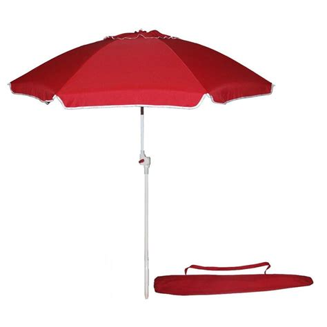 kingstate portable 7 ft beach patio umbrella in red 836r