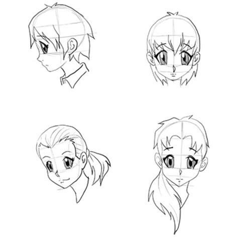 how to draw anime step by step draw anime faces heads drawing faces step by