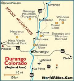 durango colorado map durango mountain resort mesa verde