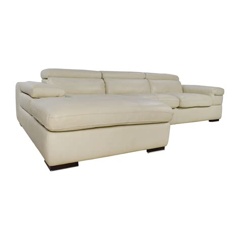 l shaped leather sectional 69 off l shaped cream leather sectional sofa sofas