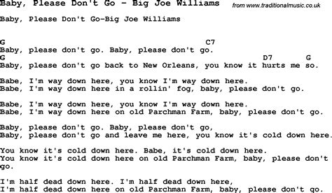 song baby don t go by big joe williams song lyric