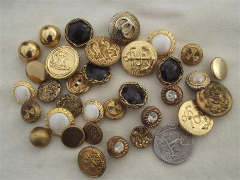 jar of buttons vintage sewing button lot