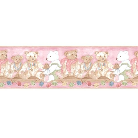 classic wallpaper borders coloroll vintage alphabet teddy bear designer feature