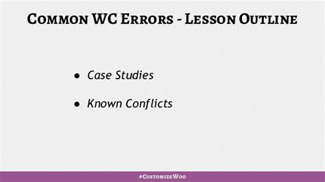 Outline Two Errors In Attribution by Woocommerce Common Errors
