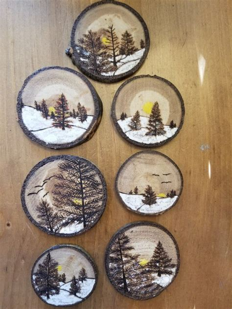 latest batch  wood slice ornaments