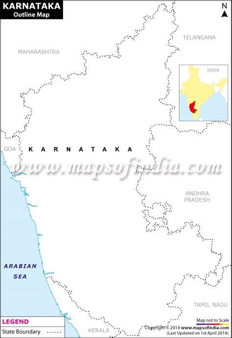 Karnataka Outline Map by Karnataka Outline Map Blank Map Of Karnataka