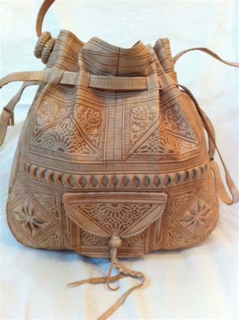 Handmade Hobo Bags - moroccan leather bag womens handbag purse shoulder bag by