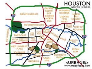 houston suburbs map a useful map of major neighborhoods houston