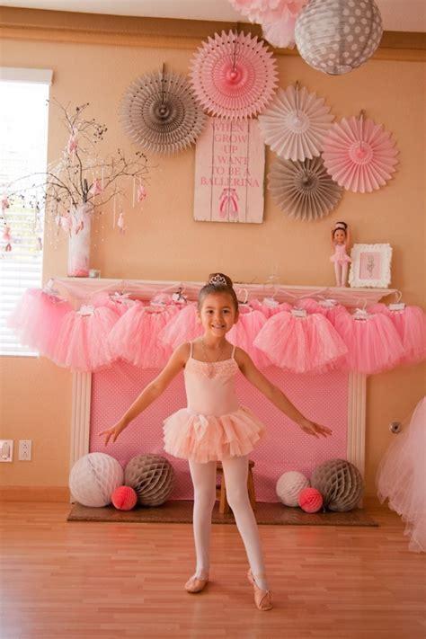 Kara S Party Ideas Ballerina Themed Birthday Party Ideas | ballerina themed 5th birthday party with lots of really