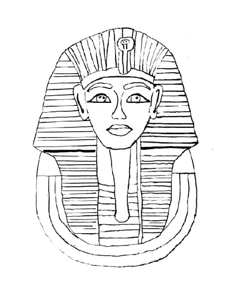 coloring pages king tut mummy bear coloring book