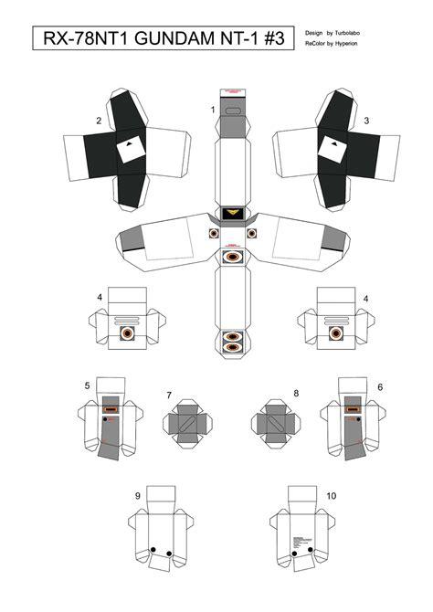 cara membuat papercraft gundam 3d: Cara membuat papercraft
