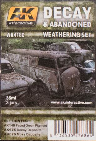 Ak675 Decay Deposits For Abandoned Vehicles ak interactive ak 4180 decay and abandoned weathering set paint review