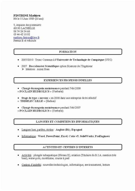 modele cv simple pdf cv anonyme