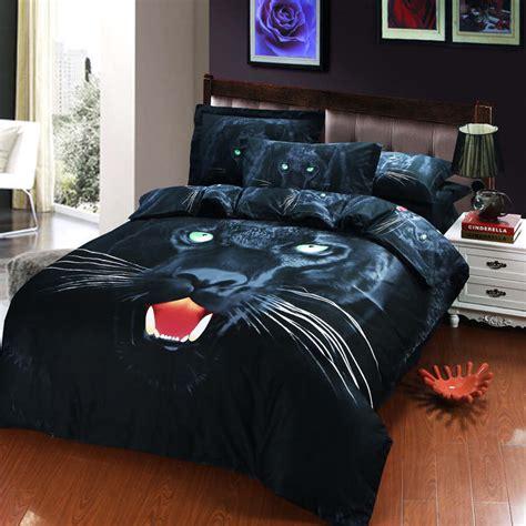 black panther comforter set black panther animal print 3d oil painting bedding set