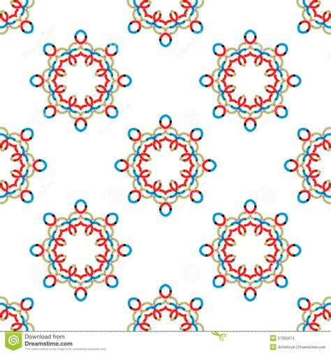 vector seamless pattern abstract background with round seamless vector geometric abstract pattern stock vector