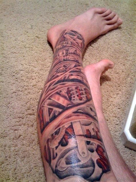 70 adorable biomechanical tattoos on leg