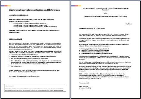 Praktikum Empfehlungsschreiben Muster vorschau der empfehlungsschreiben