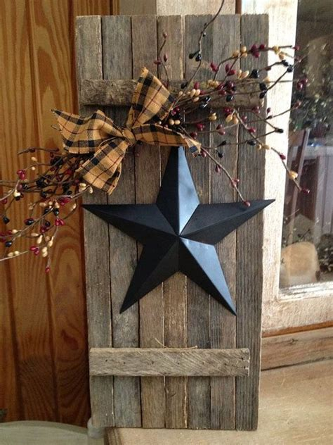Primitive Kitchen Canister Sets Lathe Wooden Shutter With Star By Oldthymecottage On Etsy