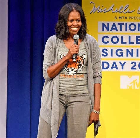 michelle obama photos michelle obama gives students advice at college signing