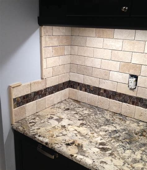 a call for help with a travertine backsplash several