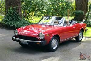 1976 Fiat 124 Spider 1976 Fiat Spider 124 1800cc 2 2 Convertible All Original 126k