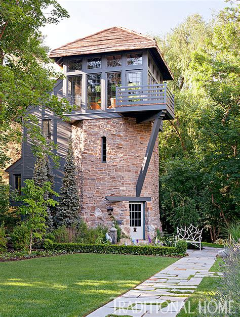house with tower meticulously restored tudor house in utah traditional home