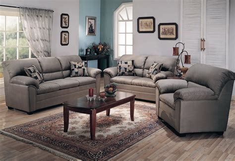 microfiber living room sets sumner smoke green microfiber 2 piece living room set by
