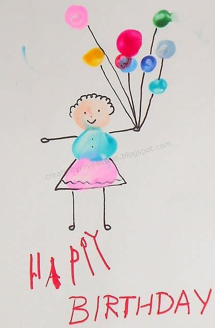 Thumb Print Cards Craft By Free Template by 17 Best Images About Birthday On Book