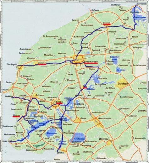 northern netherlands map map of friesland all things