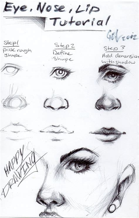 tutorial makeup shading eye nose and lip tutorial by blucinema on deviantart 4