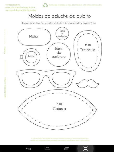 pizca creativa diy pulpitos de peluche moldes gratis peluches jeissa septiembre 2014