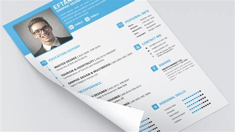 Resume Business Card Template by 5 Free Fully Customizable Cv Resume Templates